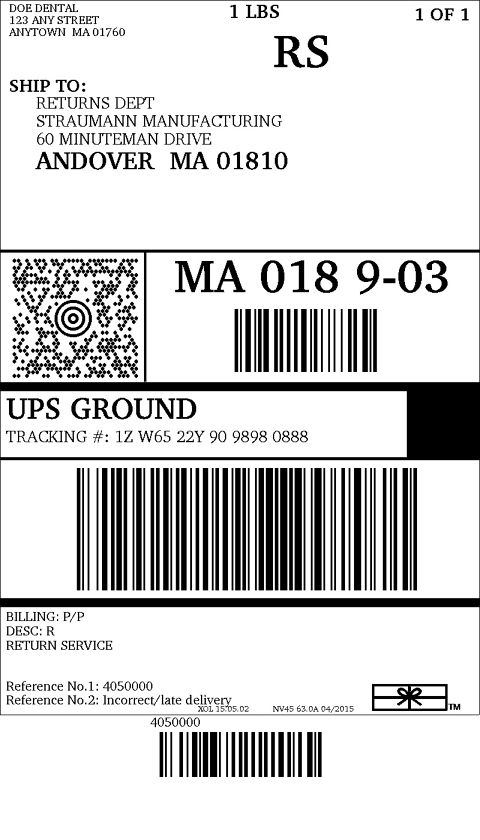 Nifty image regarding printable ups label